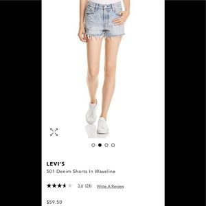 Levi's 501 Distressed Denim Shorts